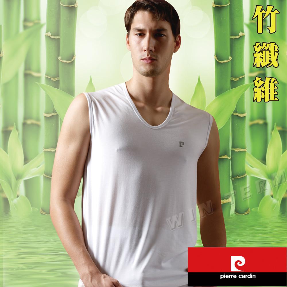 Pierre cardin 皮爾卡登 抑菌消臭竹纖維無袖衫(7件組)台灣製造