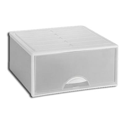 【崇尚簡約】35L單抽式 抽屜整理箱-2入(兩色可選)