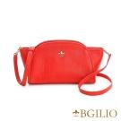 義大利BGilio-時尚水洗羊皮元寶小包-紅色 1950.003B-01