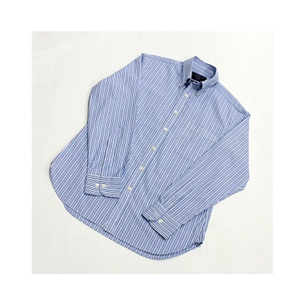 [摩達客]英國進口【Charles Tyrwhitt】高級藍白細紋長袖襯衫