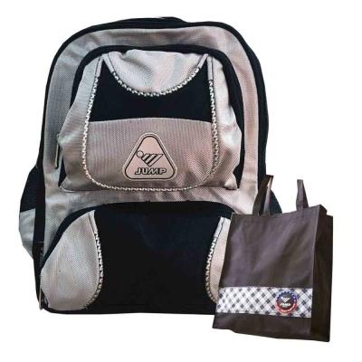 JUMP將門 反光護脊後背包-灰黑(JP7221)1+1手提袋