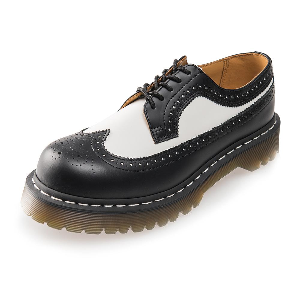 (男) Dr.Martens 經典3989 撞色雕花3孔牛津鞋*黑白