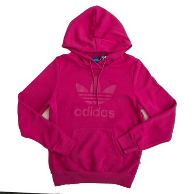 Adidas-TRF-LOGO-連帽長袖上衣-女