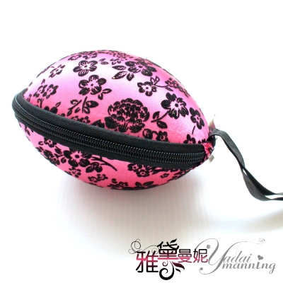 雅黛曼妮-隱形胸罩-日糸隱形胸罩手提式收納盒-玫紅古典花色