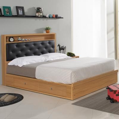 Homelike 米亞抽屜式床台組-雙人5尺