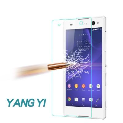 YANG YI 揚邑 Sony Xperia C3 防爆防刮防眩弧邊9H鋼化玻璃...