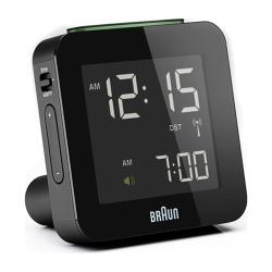 德國BRAUN百靈-電波數位旅行電子鬧鐘-黑(BNC009BK-RC)