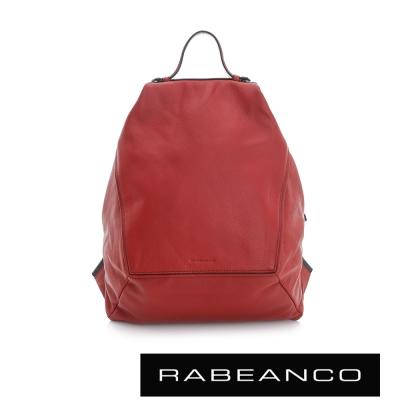 RABEANCO 時尚系列牛皮菱形後背包 紅