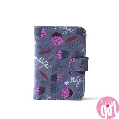 【ELLEgirl】法國女孩甜蜜午茶皮夾-紫色(共2色)