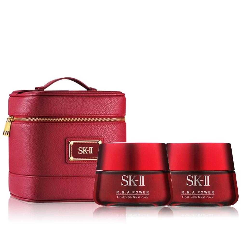 SK-II R.N.A.超肌能緊緻活膚霜限量大加版2入組(送青春禮讚化妝提包)