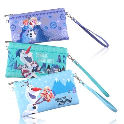 Disney迪士尼冰雪奇緣橫式手機袋/萬用包