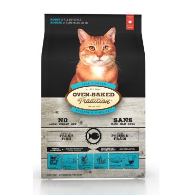 Oven-Baked烘焙客 成貓 魚肉口味 低溫烘焙 非吃不可 10磅 / 4.5kg