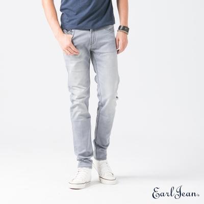 Earl Jean 灰單寧系列低腰緊身寧特窄管褲-淺灰-男