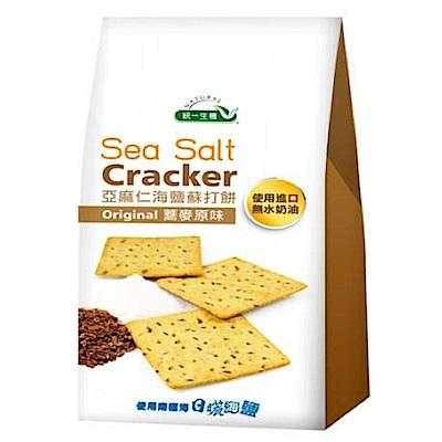 統一生機 亞麻仁海鹽蘇打餅-蕎麥原味(168g)