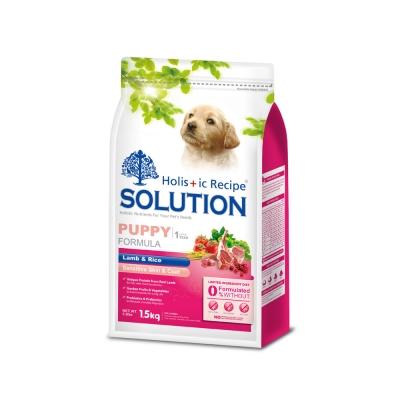 SOLUTION 耐吉斯 幼犬 聰明成長配方 羊肉&田園蔬菜 15公斤 X 1包