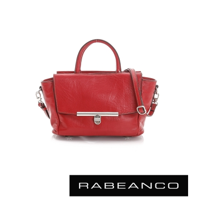 RABEANCO 迷時尚系列經典轉扣兩用小手提包 - 紅