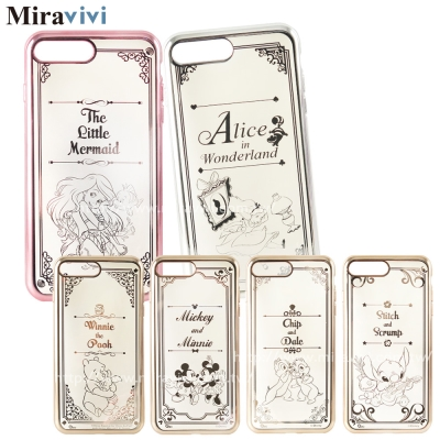 Disney迪士尼iPhone 7 Plus時尚質感電鍍保護套-畫框系列