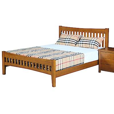 AT HOME 伯斯 5 尺實木柚木色雙人床( 154 * 200 * 100 cm)(不含床墊)