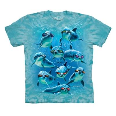 摩達客 美國進口The Mountain 墨鏡海豚班 純棉環保短袖T恤