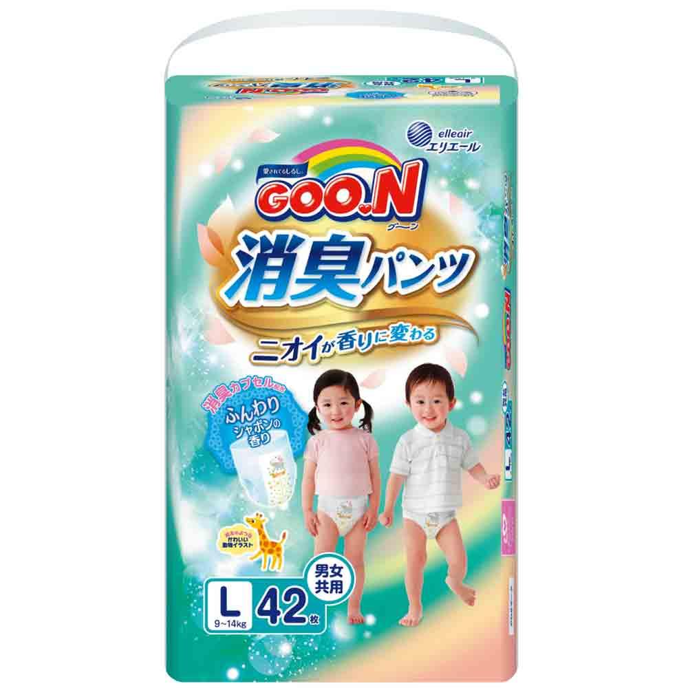 GOO.N日本大王境內版消臭香香褲 褲型紙尿褲(L)42片x3包/箱