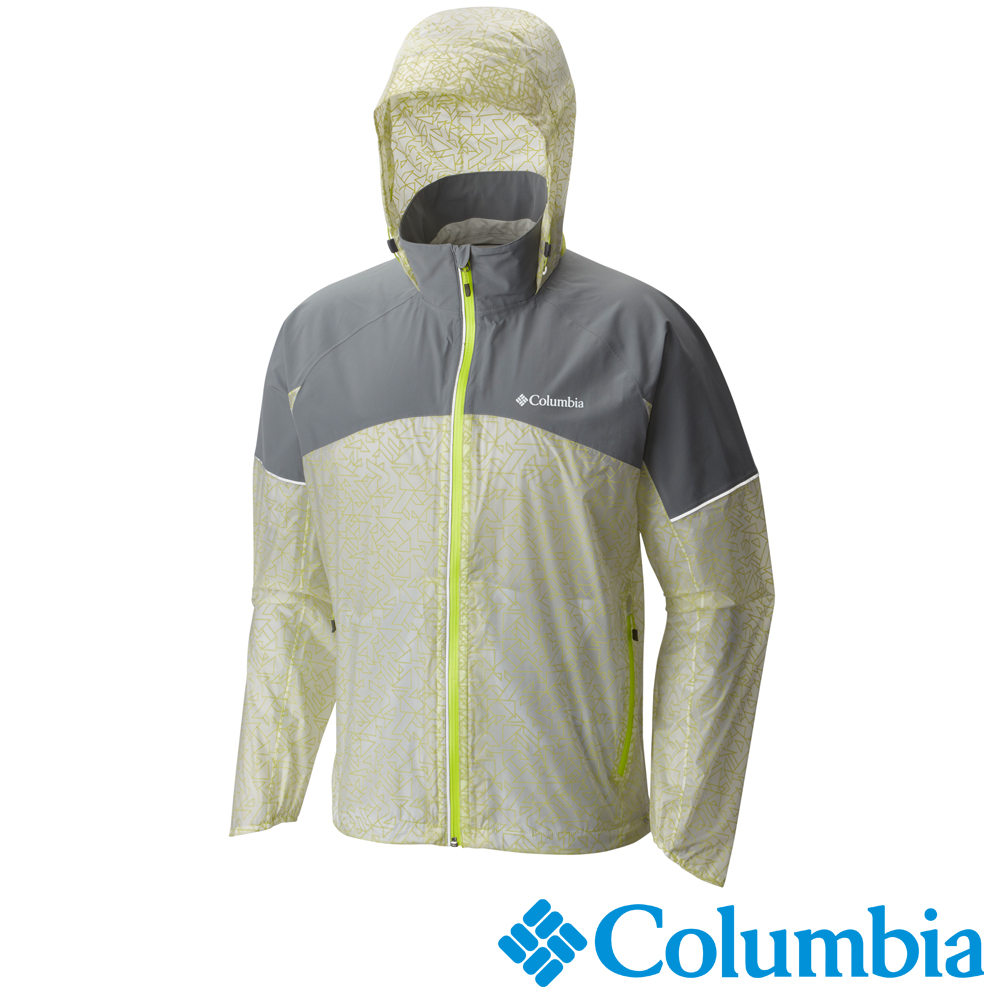 【Columbia哥倫比亞】男-單件式防水外套-淺灰 URE10320FL