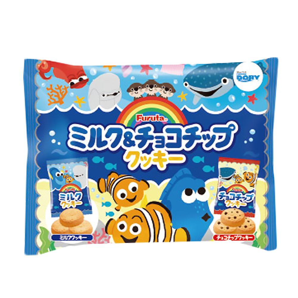 Furuta古田海底總動員牛奶&巧克力片餅乾120g