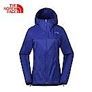 The North Face北面女款藍色輕便防風戶外休閒風衣