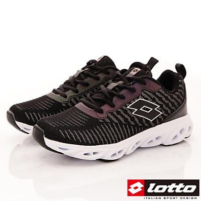 Lotto樂得-反光風洞跑鞋-RSI250黑(女段)