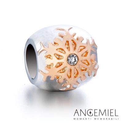Angemiel安婕米 925純銀珠飾 冰晶(玫瑰金) 串珠