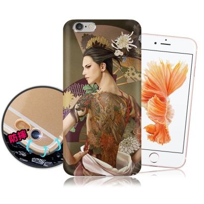 張小白授權 iPhone 6/ 6S Plus 古典奇幻插畫 滿版空壓保護殼(菊...