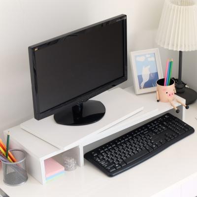 EASY HOME-可伸縮旋轉桌上螢幕置物架(白色)-53.6x24x11cm-DIY