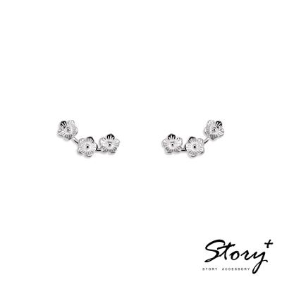 STORY ACCESSORY-櫻花長排-純銀耳環
