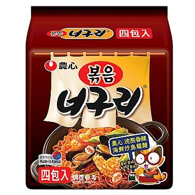 農心 浣熊香辣海鮮炒烏龍麵(137gx4入)