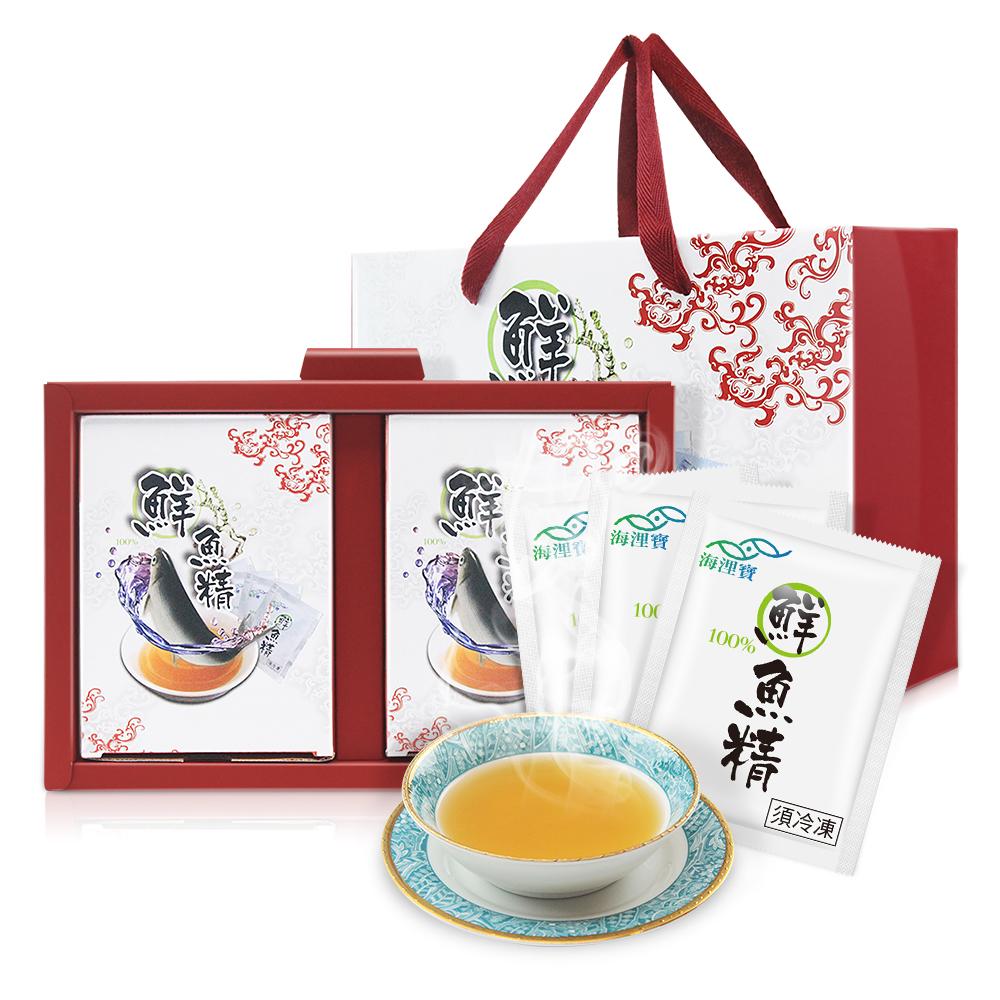 海浬寶 道地精華 原味鮮魚精 禮盒1入組(10包/盒)+加贈四物飲2包