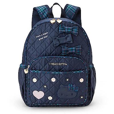 Sanrio HELLO KITTY蘇格蘭藍格紋系列兒童後背包L