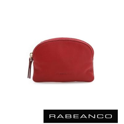 RABEANCO-迷色彩牛皮系列拉鍊零錢包-紅