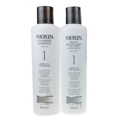 NIOXIN 耐奧森(儷康絲) 組合1號潔髮乳+甦活乳300ML 公司貨