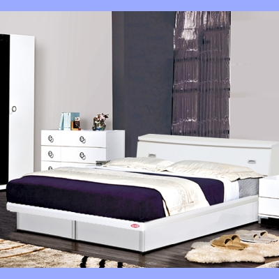 群居空間 玲奈5尺掀床組 床頭箱+掀床 純白色