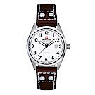 阿爾卑斯軍錶S.A.M -獨家限定-指揮官系列-白色錶盤/皮帶/30mm
