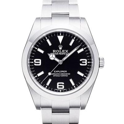 ROLEX 勞力士 214270 New Explorer 新探險家系列藍光腕錶-黑/39mm