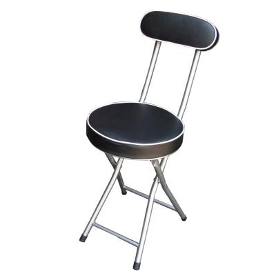 頂堅-沙發椅座高背折疊椅-4入-黑色-紅色
