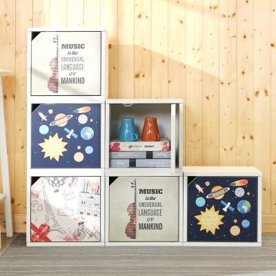 BuyJM零甲醛防潑水單層附門兒童收納櫃34x29x32cm-DIY