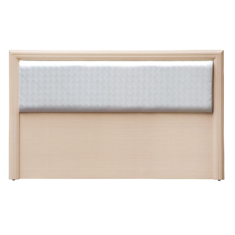 AS-派克5尺洗白格子紋皮面床頭片-152x3x92cm