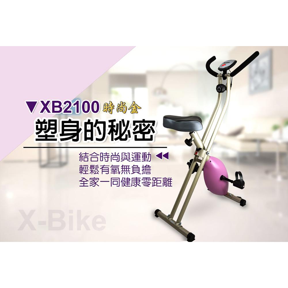 【 X-BIKE 晨昌】 超有型_時尚金 磁控健身車 台灣精品 XB2100