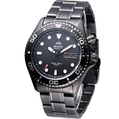 ORIENT 海洋征服者200M防水機械錶-全黑/41mm