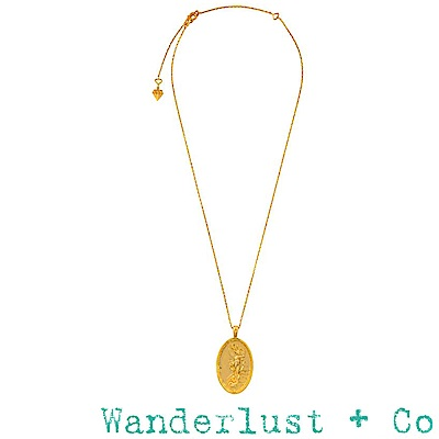 Wanderlust+Co 澳洲品牌 希臘海洋天空女神項鍊 金色錢幣項鍊 Iris