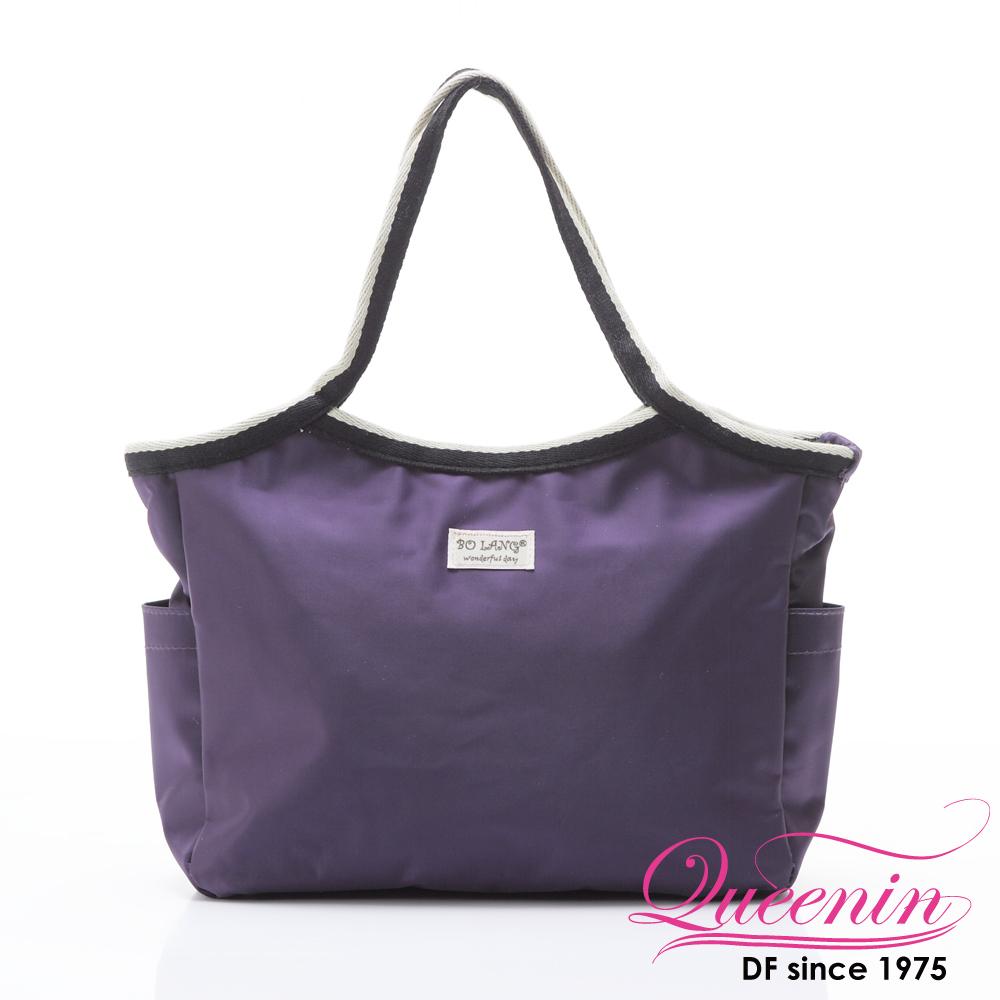 DF Queenin - 韓版百搭輕便式多用途手提包-紫色