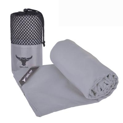 韓國SELPA 科技吸水戶外加大款速乾浴巾 灰色