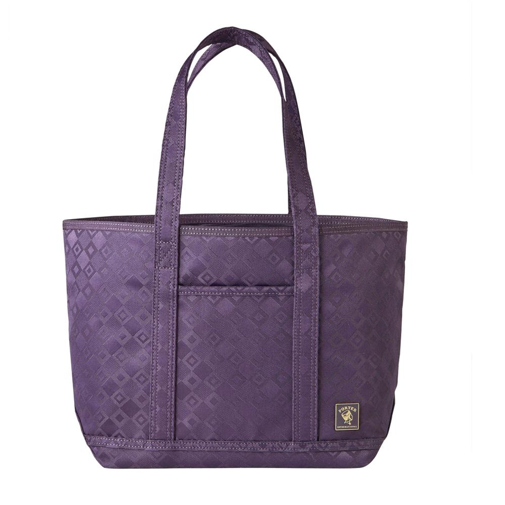 PORTER - 極緻魅力FEVER雙菱格緹花小型托特包 - 紫