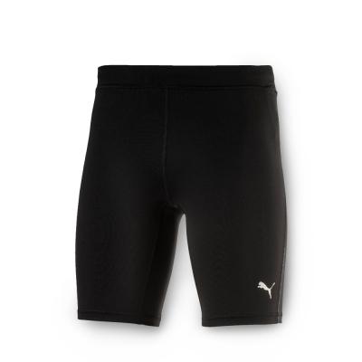 PUMA 男性慢跑系列緊身短褲-黑